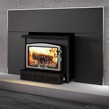 osburn 1600 metallic black epa wood burning fireplace insert