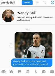 Wendy Ball INVITE Ball Wendy Ball You and Wendy Ball Aren't Connected on  Facebook 1420 Wendy Ball Hits Your Head and Your Sat in Row Z Thats Zamora!