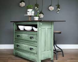 furniture repurposed. SOLD* Repurposed Vintage Dresser, Chest Of Drawers Into Farmhouse Green Kitchen Island With Two Furniture E