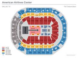 Bjcc Wwe Seating Chart Seating Maps American Airlines Center