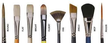 Acrylic Brush Size Chart Paintbrush Wikipedia