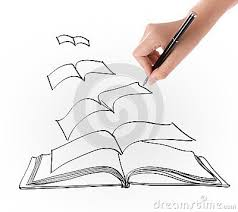 drawings of open books hand drawing open flying book stock images image 30452854
