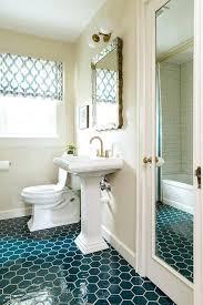 pea blue hexagon tilesscalloped edge pedestal sink american standard scalloped