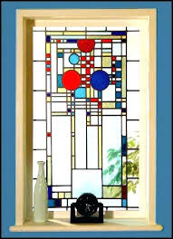 stained glass window clings interior decor ideas post