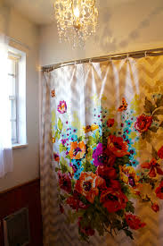 as you ve probably noticed throughout my blog i am not a fan of shabby chic but there was something about this shower curtain that made me really happy