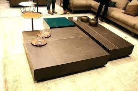 zen coffee table garden creating a decor with clean lines square inspired tables antonello cof