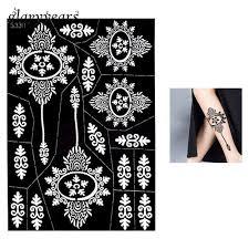 1 Ks Hollow Henna Tattoo šablona Krása Květiny Vzor Airbrush Malování ženy Zadní Rameno Umění Henna Tattoo šablona Na Make Up At Vova