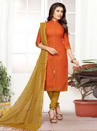 Cotton Churidar Dress Design Patterns Rust Cotton Churidar Salwar Suit 128154 Salwar Designs