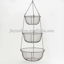 3 tier metal fruit basket 3 tier wall baskets 3 tier hanging basket