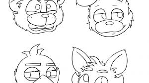 Five Nights At Freddy S Coloring Pages Foxy Aspiration Freddys Fnaf