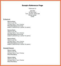 Examples Of References For Resume Reference For Resume Sample Professional Reference Template Bio 33