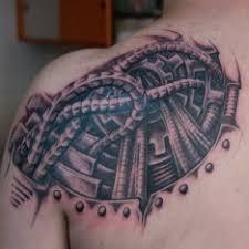 Tetování Biomechanika Záda Tetování Tattoo