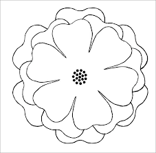 Paper Flower Petal Template Free 3d Paper Flower Patterns Petal Templates Inspirational Template
