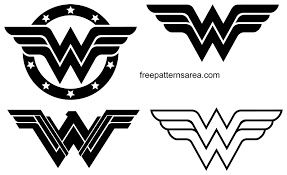 Wonder Woman Logo Symbol and Silhouette Vector | FreePatternsArea