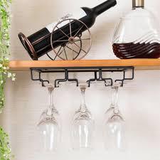 outops iron wall mount wine glass hanging holder goblet stemware storage organizer rack