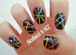 25 Best Ideas About Tape Nail Art On Pinterest Easy Nail Art ...
