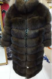 new brand winter real blue fox fur coat thick warm imitation of sables women s light brown long
