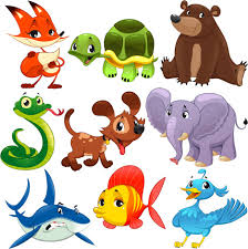 funny cartoon and fish with bird vector free vector 228 59kb