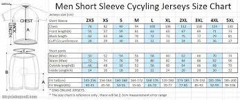 Cycling Jersey Size Chart Size Chart Cycling Jersey