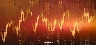 Red Gold Stock Market Data K Line Background Illustration