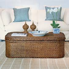 large rattan storage trunk picture
