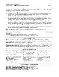 Regional Head Resume Senior Technical It Manager Example Examples