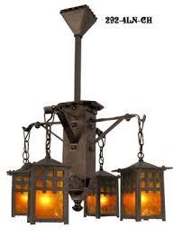 j morgan arts crafts 4 lantern chandelier 292 4ln ch