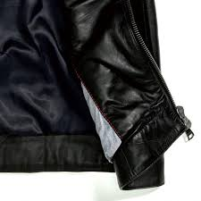 outerwear black tommy hilfiger leather biker jacket mens flag black