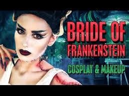 bride of frankenstein cosplay costume makeup tutorial victoria lyn beauty