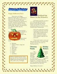 Thanksgiving Newsletter Template