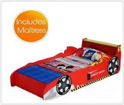 kids car bed boys single foam mattress