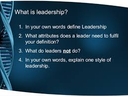 Define Team Leader Leadership And The Role Of The Team Leader