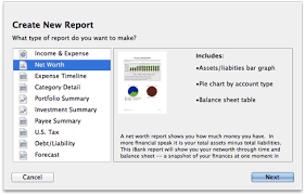 Report Types Net Worth