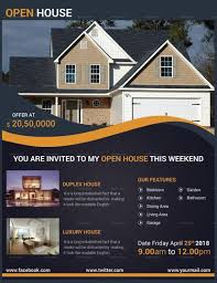 Home Flyers Template Luxury Open House Flyer Template In 2019 Open House House