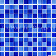 gcr080 mid blue blend crystal glass mosaic pool tile