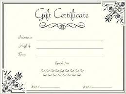 Blank Gift Certificates Templates Blank Birthday Gift
