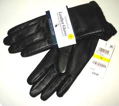 upc 098617134119 product image for charter club micro faux fur lined leather tech gloves women s medium