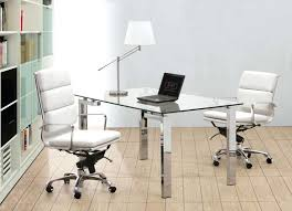 white modern office chair. Modern Office Desk Chair White Chairs Made From A Steel Frame With Rolling Base