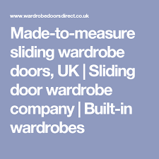 Small Picture Made to measure sliding wardrobe doors UK Sliding door wardrobe