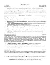 Resume Human Resources Coordinator Resume For Study