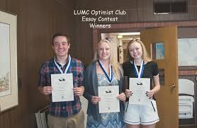 arapahoe high school students place top three in optimist essay winners of lumc optimist club s essay contest from left ethan anderson laura friedrich