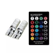 Đèn LED điều khiển từ xa gắn xi nhan xe máy Oto - LED chân T10 bảy màu