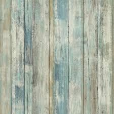 blue distressed wood l and stick wallpaper