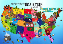 Animated Travel Map The Ultimate Road Trip Map Of Things To Do In The Usa Hand