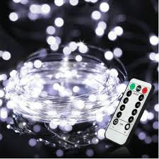 Timer 5m Battery Powered Fairy String Lights Remote Timer 5m 50 Micro White Leds On Silver Wire Decorative Lighting Waterproof For Outdoor And Indoor Party