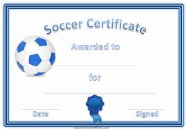 Free Soccer Certificate Templates 30 Free Football Certificates Templates Pryncepality