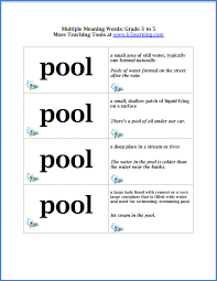 Words With Photo Multiple Meanings Words Flashcards