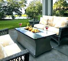 round propane fire pit backyard dining table with chairs propa