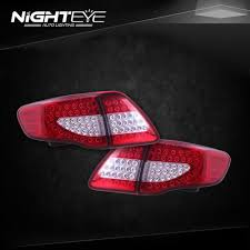 NightEye Toyota Corolla Tail Lights 2007-2010 Corolla LED Tail ...