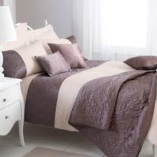 dreams n ds amarante quilted leaf duvet cover set mocha